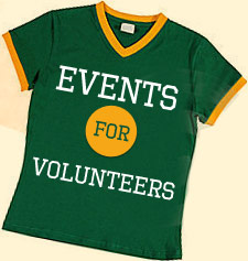 Events for volunteers